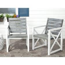 white outdoor patio furniture. irina whiteash grey acacia wood patio armchair 2pack white outdoor furniture t