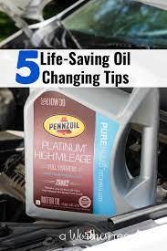 diy oil change 5 life saving oil