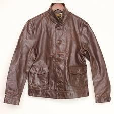 levis vintage clothing menlo cossack leather jacket m bourbon brown einstein lvc