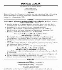 bank sample resume eye grabbing banking resumes samples livecareer
