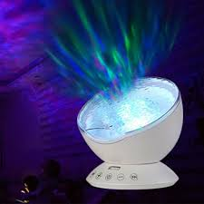 Wave Light Projector Relaxing Ocean Wave Music Led Night Light Projector 7 Colors
