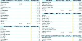 Personal Household Budget Finance Excel Template Financial Spreadsheet Personal Home Budget Ma