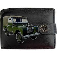 landrover series 1 image on klek brand men wallet purse real black leather car moto accessory