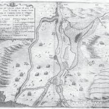 map of komárom s siege p r i o r a t o 1672 showing the study area south of the