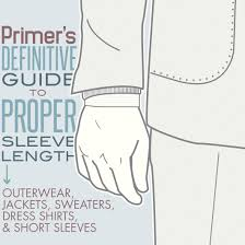 Arm Length Chart Primers Guide To Proper Coat Sleeve Length