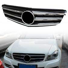 Mercedes c class 2014, grille by genuine®. Car Front Grille Upper Grill For Mercedes Benz C Class W204 C300 C350 C250 2008 2009 2010 2011 2012 2013 2014 Chrome Black Abs Racing Grills Aliexpress