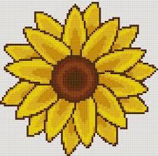 Yiotas Cross Stitch Sunflower Free Cross Stitch Pattern