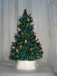 Ceramic Christmas Light Up Tree Vintage Ceramic Christmas Tree With Light Up Candle Base