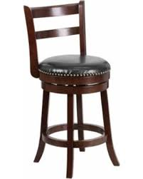 26 inch counter stools. Offex Cappuccino Wood 26-inch Counter-height Stool With Black Leather Swivel Seat ( 26 Inch Counter Stools R