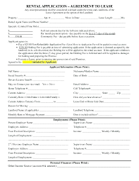 Credit Application For Rental Tenant Application Form Tenant Application Form Template Agreement