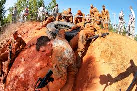 u s department of defense photo essay  officers complete a team obstacle course during a prop blast on fort bragg n c