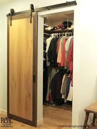 sliding barn door for closets barn wood closet doors closet barn doors
