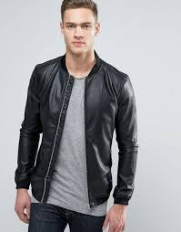 pull bear faux leather er jacket with perforated sleeves men black jackets pull bear faux shearling biker jacket uk factory