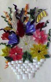 Paper Quilling Flower Baskets Paper Quilling Flower Basket Eydt