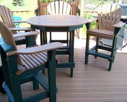 small deck furniture. Composite Patio Furniture With Wooden Patern Deck And Small Round Table: Full Size E