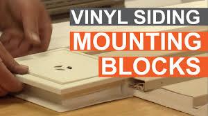How To Mount Lights On Vinyl Siding Tip Of The Week Using Vinyl Siding Mounting Blocks