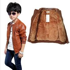 autumn winter kids thick warm jacket pu leather girls jackets clothes children outwear for baby girls