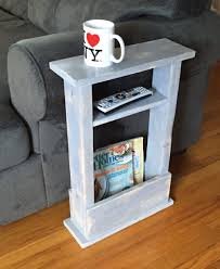 coffee tables for small spaces. Skinny Side Table, Mini Apartment Decor, Small Space Sofa Gift Idea, Coffee Magazine Rack, Dorm, End Table By NewLoveDecor Tables For Spaces N