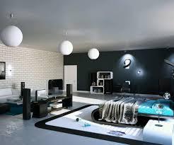 modern room furniture. Awesome Modern Bedroom Furniture Images Round White Pendant Lighting  Beige Tile Pattern Brick Wall Solid Modern Room Furniture