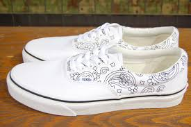 vans shoes white colour. vans (vans shoes) sneakers era (bandana stitch) true white/black vn00018fi9t vans shoes white colour