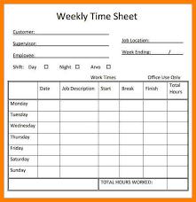 10 Free Printable Weekly Timesheet Template Reptile Shop