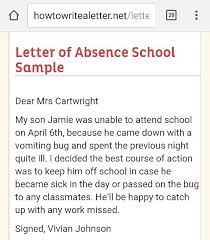 absence from school letter how to write a letter school for child absence mediafoxstudio com