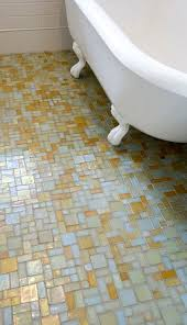 mosaic glass tile floor