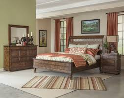 Sleigh Bed Bedroom Sets Southern Pines 4 Piece Whispering Pines Sleigh Bedroom Set In Pine