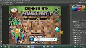 minecraft invitation how to create minecraft invitation photo minecraft