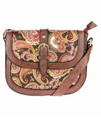 Iva Brown Non Leather Sling Bags - Buy Iva Brown Non Leather Sling Bags  Online at Best Prices in India on Snapdeal