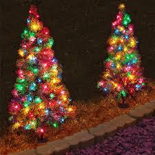 Multi Color Pathway Lights Amazon Com North Pole Originals Set Of 2 Pre Lit Multi