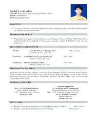 sample of resume for civil engineer sample resume templates resume template  sample good resume example sample