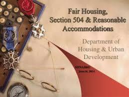 PPT   Affirmative Fair Housing Marketing Plan PowerPoint    Fair Housing  Section  amp  Reasonable Accommodations