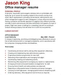 Admin Manager Cv Sample Office Manager Resume Example Thrifdecorblog Com