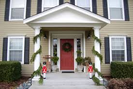 ... Interesting Front Porch Christmas Decorations : Fancy Front Porch  Christmas Decorating Design Ideas With Solid Wood ...