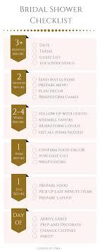 Bridal Shower Planning Checklist Pdf Planner Party Wedding