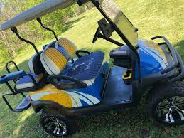custom front and back seat golf cart seat protective cover two piece personalized matching set level 1 good