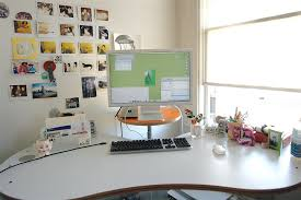 Impressive office desk setup Computer Desk Mac Desk Decor Web Design Dev Awesome Mac Workplaces