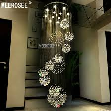 modern large crystal chandelier light fixture for lob staircase pertaining to new house long crystal chandelier remodel