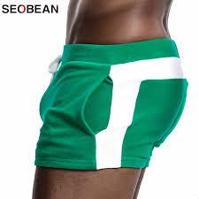 <b>SEOBEAN Men Homewear</b> Shorts Sexy Low Waist Cotton Super ...