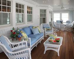 This is an example of a beach style porch design in Philadelphia with  decking and a