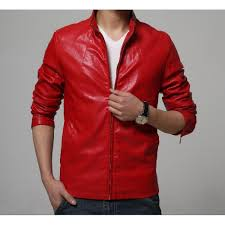 2018 mens high quality faux leather jacket slim fit coat male clothing plus size m 6xl drop ship red yellow white black 5colorleather jackets for men under