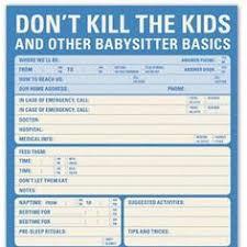 babysitter information sheet printable babysitter checklist babysitter checklist babysitting and parents