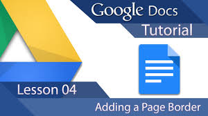 Google Docs Tutorial 04 How To Add A Page Border
