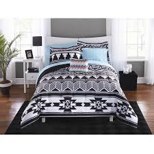 full size of mainstays black and white aztec bed in a bag coordinating bedding cd1e4e8c 4ef1