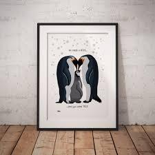 penguin print penguin gift penguin decor penguin lover penguin art penguin on penguin wall art for nursery with penguin wall print fortune hopkins homeware and ceramics