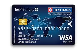 The offer is valid on hdfc bank credit cards only. Jetprivilege Hdfc Bank Signature Debit Card
