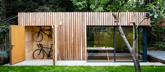 Small Picture Office shed with bike storage Garden office Office spaces and