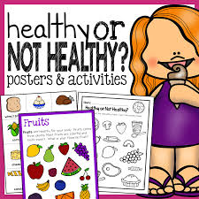 Healthy Unhealthy Food Chart Healthy Foods Worksheet Free The Super Teacher Bundlecover