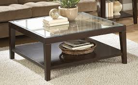 wood and glass square coffee table by size smartphone medium